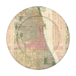 Blanchard's guide map of Chicago Pack Of Small Button Covers