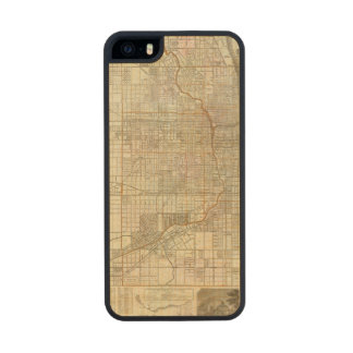 Blanchard's guide map of Chicago Carved® Maple iPhone 5 Slim Case