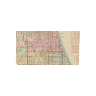 Blanchard's guide map of Chicago Checkbook Cover