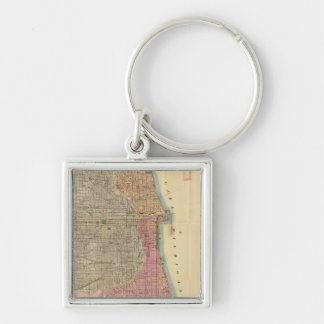 Blanchard's guide map of Chicago Key Chain