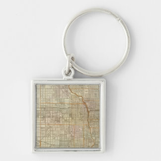 Blanchard's guide map of Chicago Keychain