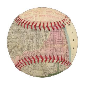 Blanchard's guide map of Chicago Baseballs