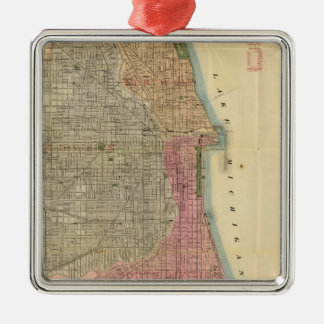 Blanchard's guide map of Chicago Metal Ornament
