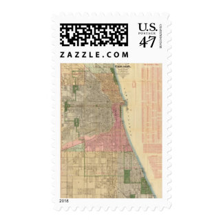 Blanchard's guide map of Chicago Postage