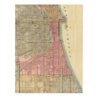 Blanchard's guide map of Chicago Postcard