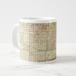 Blanchard's guide map of Chicago 20 Oz Large Ceramic Coffee Mug