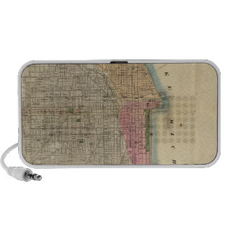 Blanchard's guide map of Chicago Travelling Speaker