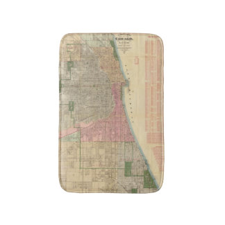 Blanchard's guide map of Chicago Bath Mats