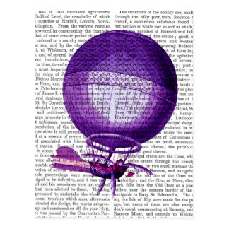 Blanchards Hydrogen (Purple) Hot Air Balloon Postcard