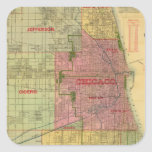 Blanchard's map of Chicago and environs Stickers