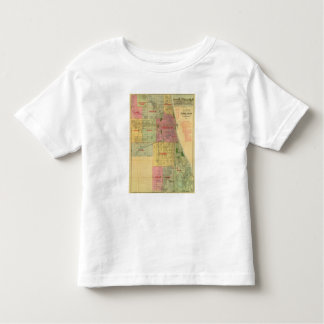 Blanchard's map of Chicago and environs T-shirt