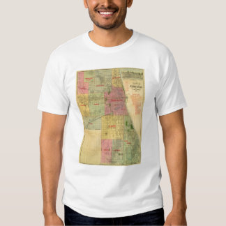 Blanchard's map of Chicago and environs Tee Shirt
