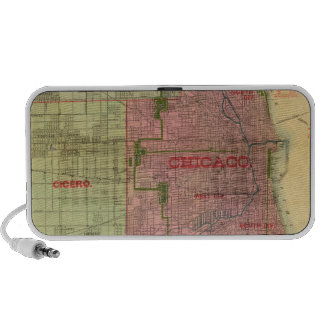 Blanchard's map of Chicago and environs Travel Speaker