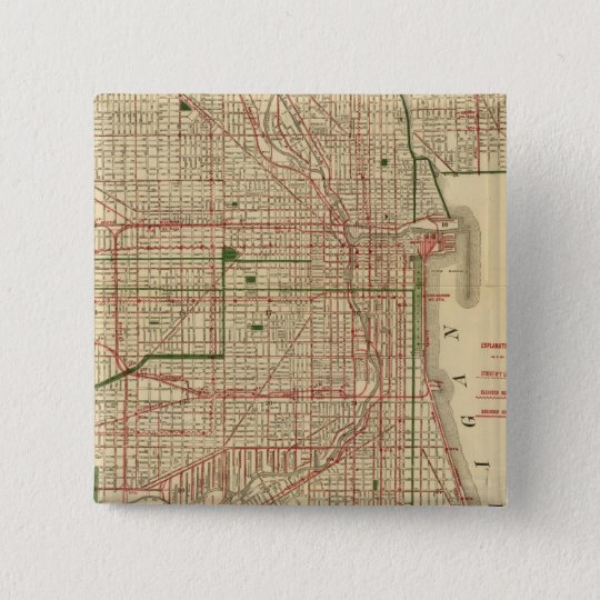 Blanchard's map of Chicago Button