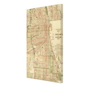 Chicago Map Canvas.Chicago Map Canvas Art Prints Zazzle