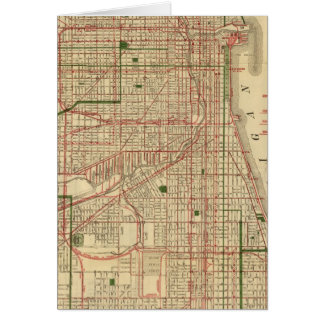 Blanchard's map of Chicago Card