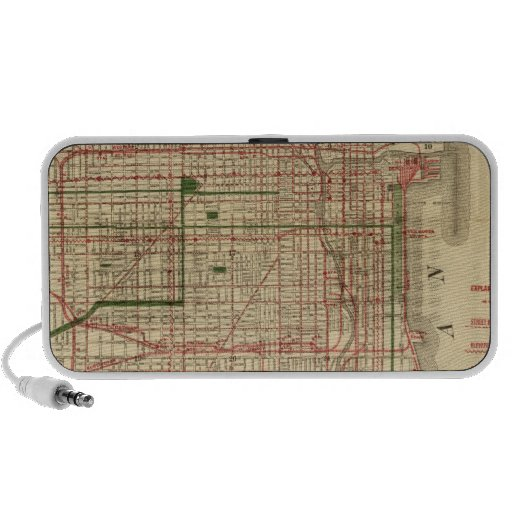 Blanchard's map of Chicago iPhone Speakers