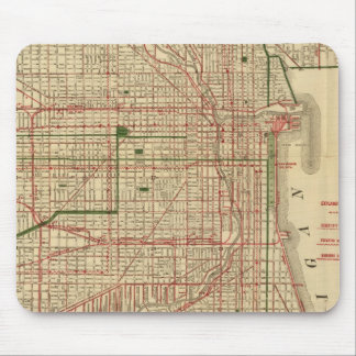 Blanchard's map of Chicago Mouse Pad