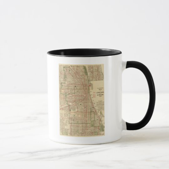 Blanchard's map of Chicago Mug