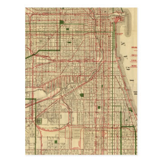 Blanchard's map of Chicago Postcard