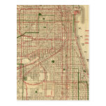 Blanchard's map of Chicago Postcards
