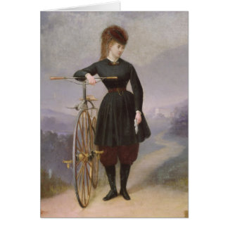 Blanche d'Antigny  and her Velocipede Card