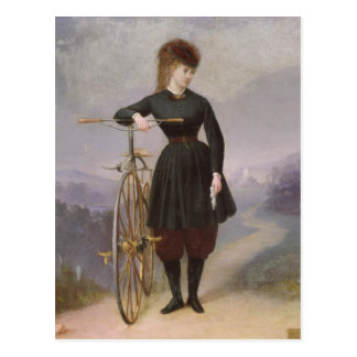 Blanche d'Antigny  and her Velocipede Postcard