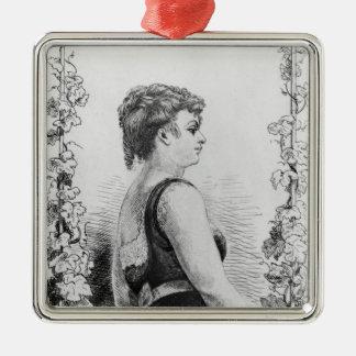 Blanche d'Antigny Metal Ornament