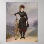 Blanche d'Antigny y su velocípedo Póster
