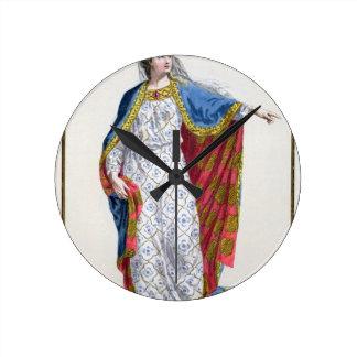 Blanche de Castile (1185/88-1252) Queen of France Round Clock