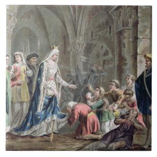 Blanche de Castille (1185-1252) Breaks up the Pris Ceramic Tile
