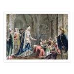 Blanche de Castille (1185-1252) Breaks up the Pris Post Card
