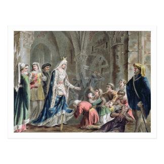 Blanche de Castille (1185-1252) Breaks up the Pris Postcard