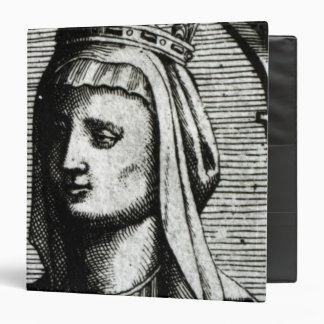 """Blanche de Castille Queen de Francia Carpeta 1 1/2"""""""