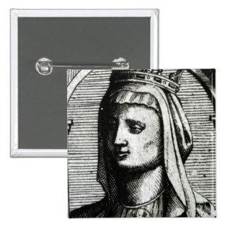 Blanche de Castille Queen de Francia Pin Cuadrado
