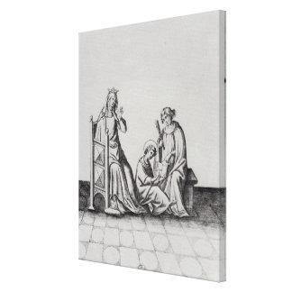 Blanche de Castille Queen de Francia y ella Impresión En Lienzo