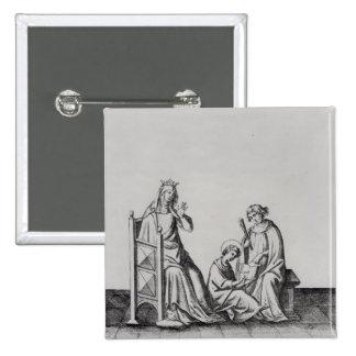 Blanche de Castille Queen de Francia y ella Pin Cuadrado