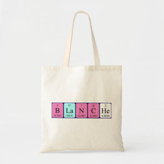 Blanche periodic table name tote bag