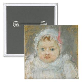 Blanche Pontillon as a Baby, 1872 (pastel on paper Pinback Button