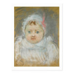 Blanche Pontillon como bebé, 1872 (en colores Postal