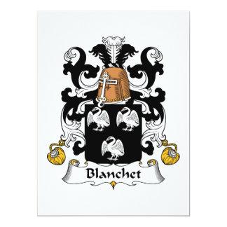 Blanchet Family Crest Custom Invitations