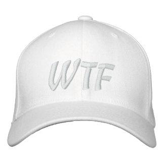 Blanco 1337 del gorra de béisbol de WTF en blanco