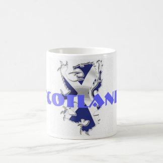 Blanco 325 ml de saltire blanco clásico Escocia de Taza Básica Blanca