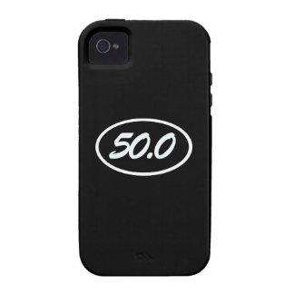 blanco 50,0 vibe iPhone 4 fundas