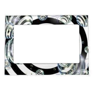 Blanco abstracta marcos magnéticos de fotos