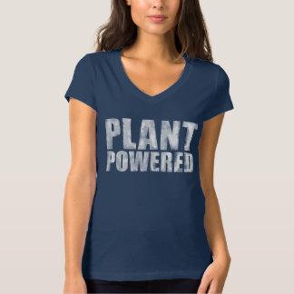 Blanco accionado planta del desastre del vegano en playera