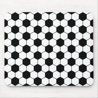 Blanco adaptado del negro del modelo del balón de tapete de ratón
