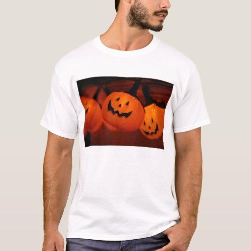 Blanco adulto de la camiseta de la iluminación de