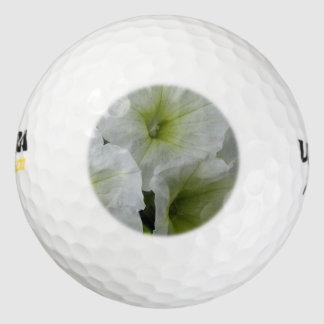 Blanco amarillo de la petunia pack de pelotas de golf