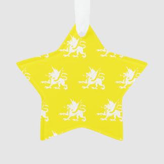 Blanco amarillo de los dragones